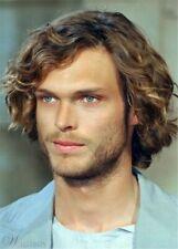100% Human Hair Natural Short Curly Dark Brown Fashion Men's Wig
