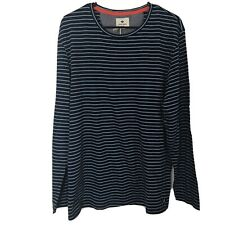 New Sperry Long Sleeve Striped Henley T-Shirt Mens Large