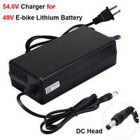 54.6V 3A Power Charger DC Head For 48V Electric Bicycles E-bike Lithium Battery