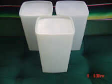 3 -Vintage Tupperware Large Square Rounds Storage Containers -  64 oz