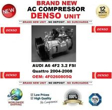 DENSO AC Compressor AUDI A6 4F2 3.2 FSI quattro 2004-2008 FEO: 4F0260805Q