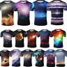 3D Printed Womens Mens Crew Nebula Galaxy Space Graphic T-Shirts Casual Tee Tops