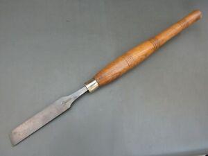 """Vintage 1"""" turning skew chisel old tool by Mawhood"""