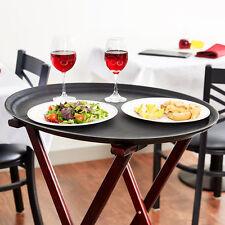 "4-Pack 27"" Black Oval Non-Skid Plastic Restaurant Serving Trays 407GT2700BK"