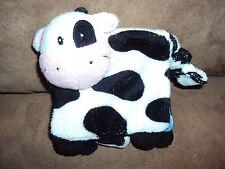 "Cow Baby Gund Cloth Fun Learning Farm Animals Book Stuffed Plush 4"" mini"