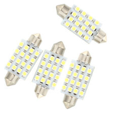4 pzs 42mm 16 SMD LED Blanco Bombilla Luz Interior feston cupula coche L5X3