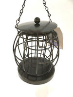 Anti Squirrel Bird Seed/Nuts Feeder For Small Garden Birds Hanging Metal Cage