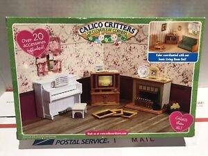 Calico Critters Of Cloverleaf Corners Living Room Accessories Set EPOCH 2009 GC