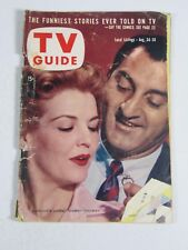TV Guide Magazine August 24-30, 1957- Majorie Lord Danny Thomas Vintage