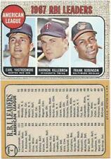 1968 Topps #4 -1967 RBI Leaders Yastrzemski Killebrew Robinson - Near Mint/Mint