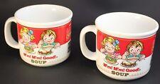 Campbell's Soup Mug Soup Bowl M'm MM! Good 1989 Westwood Set of 2