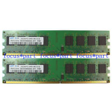 DDR2 Samsung 4GB 2X2GB PC2-6400 DDR2-800MHZ 240pin CL6 RAM Desktop Memory