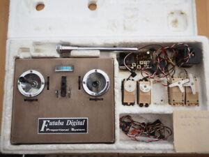 Sammler: alte Futaba 4-Kanal-Anlage in OVP, funktioniert!