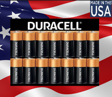 14 x D Size Duracell Copper Top Alkaline Battery-1.5 V-2027 MADE IN USA 10 Year