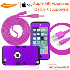 OEM Original Apple iPod Touch 5 5th Lightning USB Data Cord+Protective Case+Film