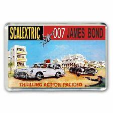 SCALEXTRIC JAMES BOND 007 ASTON MARTIN BOX ARTWORK -JUMBO FRIDGE/LOCKER MAGNET