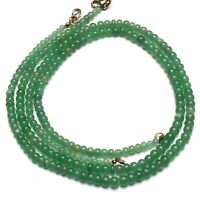 "Natural Gem Aventurine Green Quartz 5 to 6MM Size Rondelle Beads Necklace 18"""