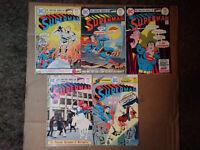 Superman #286,287,288,289+#290-Action Comics-Brainiac-Supergirl-Darkseid-Neal A.