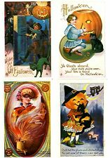 Witches-Black Cats Etc-Modern Reproduction Halloween Greeting Postcard Lot of 10