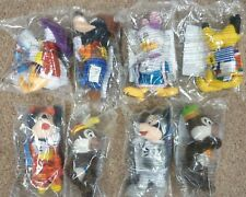 "New McDonalds ""Disneyland Paris"" Set 8 SOFT TOYS & 4 Food boxes & Sticker Set"