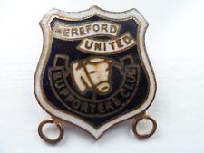 Hereford United Football Supporters Club Enamel Badge