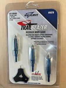 "Excalibur Crossbow Trailblazer 125 Grain 2"" Broadheads 3-Pack - Ships Free USA"