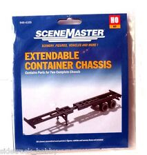 HO Scale Walthers SceneMaster 949-4105 Extendible Container Chassis Kit (2) pcs