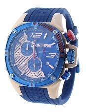Technosport Ts-100-8f1 Mens Watch Formula 1 Royal Blue & Rose Gold Swiss Chrono