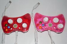Rock Candy Xbox 360 Wired Controllers 2 Pack Pink  & Red,,,free USA shipping