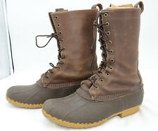 L.L. Bean Hunting Shoe Men's Sz 10 Rubber Leather Winter Work Laced Boots