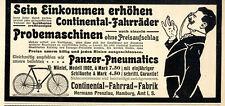 Continental-Fahrad Fabrik Panzer-Pneumatics Historische Annonce von 1902