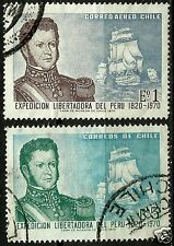CHILE, FREEDOM EXPEDITION OF PERÚ, COMPLETE SET