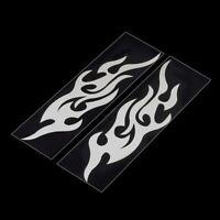 2x Flammen Tribal Sticker Aufkleber Auto Motorrad Dekor Flamme silber racing