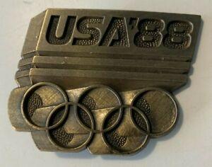 VINTAGE 1988 OLYMPICS BELT BUCKLE SEOUL