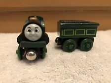 genuine Wood Wooden Thomas Train Tank Engine & Friends Emily with her tender