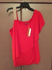 NWT  BELLDINI  WOMEN'S  RED  EVENING  TOP SIZE XL
