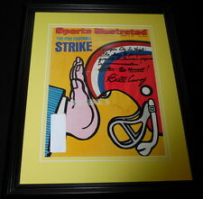 Bill Curry Signed Framed 1974 Sports Illustrated Magazine Cover Display Colts