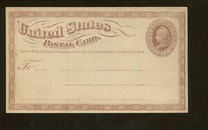 1873 United States Postal Stationary #UX1 Mint Entire Post Card PF Certified