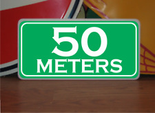 50 Meters Marker Metal Sign 4 Golf Club Yardage or Course Gun Shooting Range
