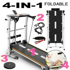4-in-1 Mechanical Treadmill Folding Shock Running, Supine, T-wisting, Draw Rope