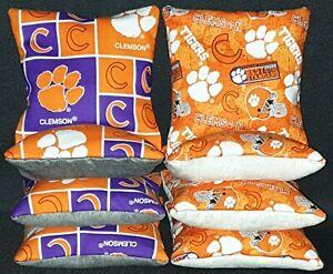 Set Of 8 Stick Slick Clemson Cornhole Bags FREE SHIPPING