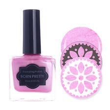BORN PRETTY 15ml Stamping Polish Nail Art Manicure Pearl Pink Stamp Varnish DIY