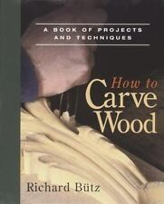 How to Carve Wood projects and Techniques woodcarving Richard Butz Free Ship New
