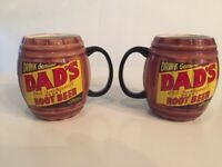Dads Barrel Mug Drink Genuine Dad's Old Fashioned Draft Root Beer Ceramic Cup