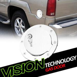 For 88-00 GMC C/K C10 Pickup Chrome Aluminum Gas Tank Door Cover Cap Lock Key