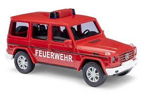 Busch H0, 51459 Mercedes Benz G Class 2008, Fire Brigade, Car Model 1:87