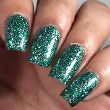 Salazar Nail Polish - green/silver glitter, same colors as Slytherin House