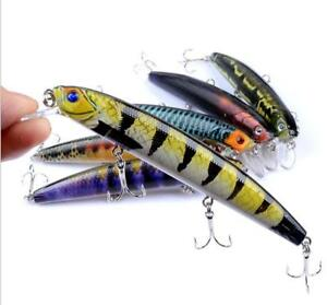 6PCS/lot Fishing Lures Bass Plastic Crankbaits Painted Bass Bait Fishing Tackle