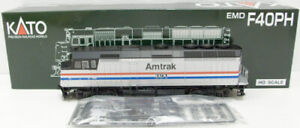 Kato 37-6552 HO Scale Amtrak EMD F-40PH Diesel Locomotive LN/Box