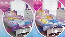 2 x Girls Kids Pink DISNEY PRINCESS SINGLE Duvet/Doona/Quilt Cover Sets BNIP